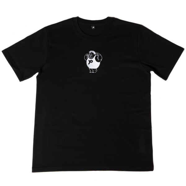 Harold Black Embroider Thick T-Shirt