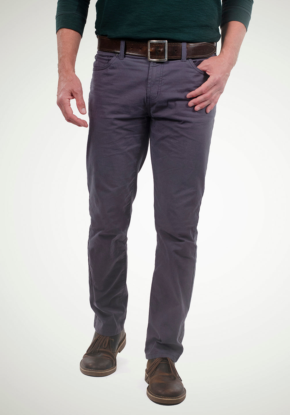 Front View Airotec® Performance Stretch Chino Pant - Fall Weight in Dark Shadow