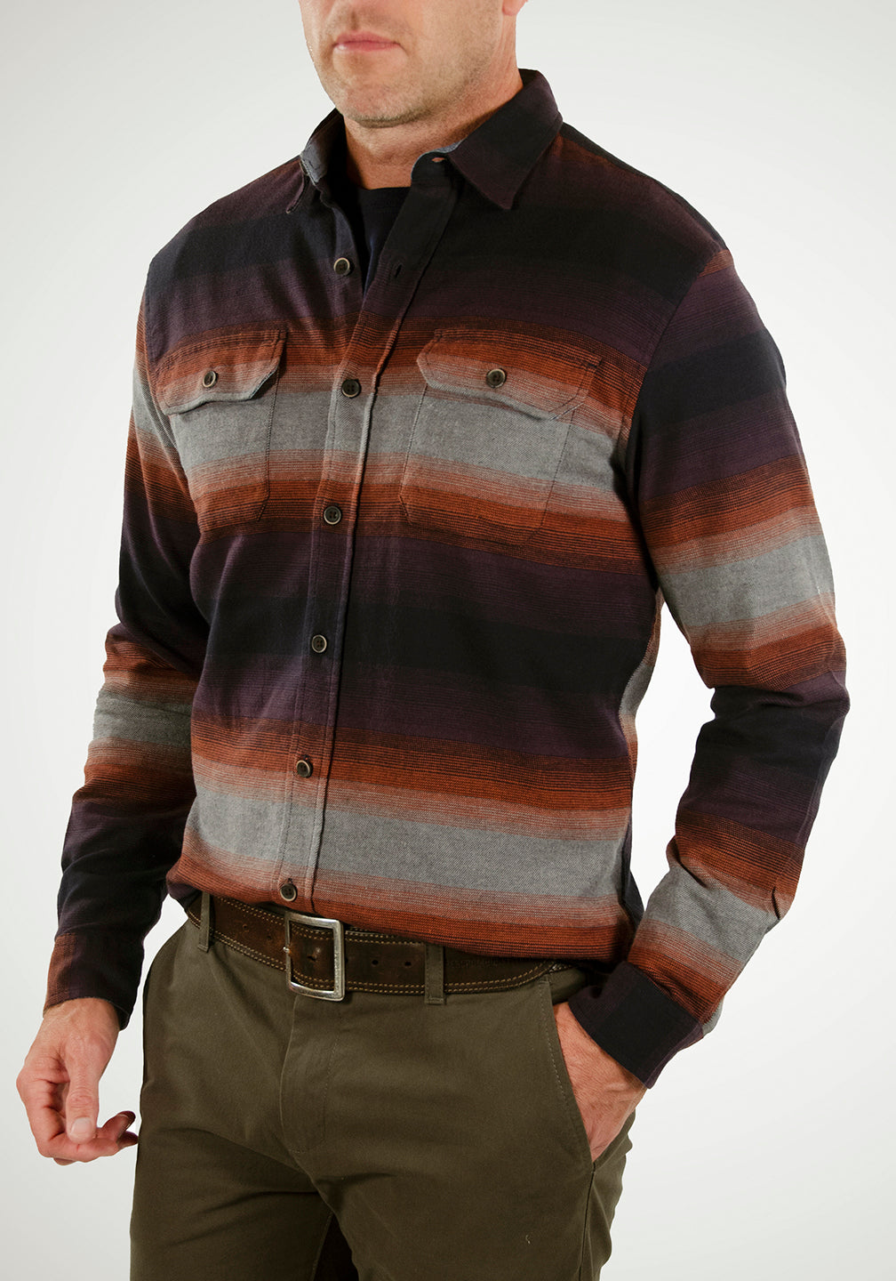 Airotec® Performance Stretch Flannel Shirt (Painted Desert Stripe)