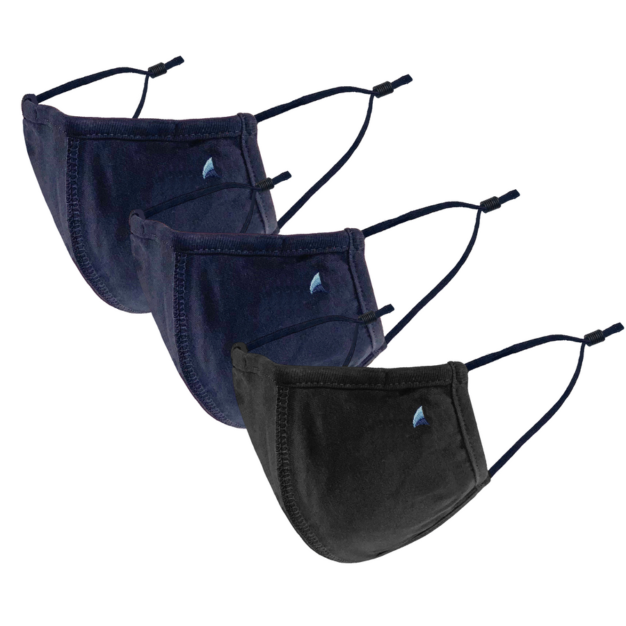PURETEC COOL™ NANOFIBER FILTER  MASK (NAVY/BLACK 3-PACK)