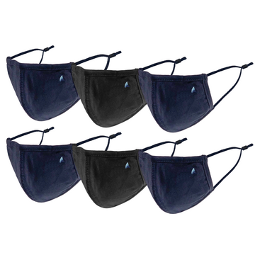 PURETEC COOL™ NANOFIBER FILTER  MASK (NAVY/BLACK 6-PACK)