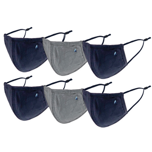 PURETEC COOL™ NANOFIBER FILTER  MASK (NAVY/GRAY FLANNEL 6-PACK)