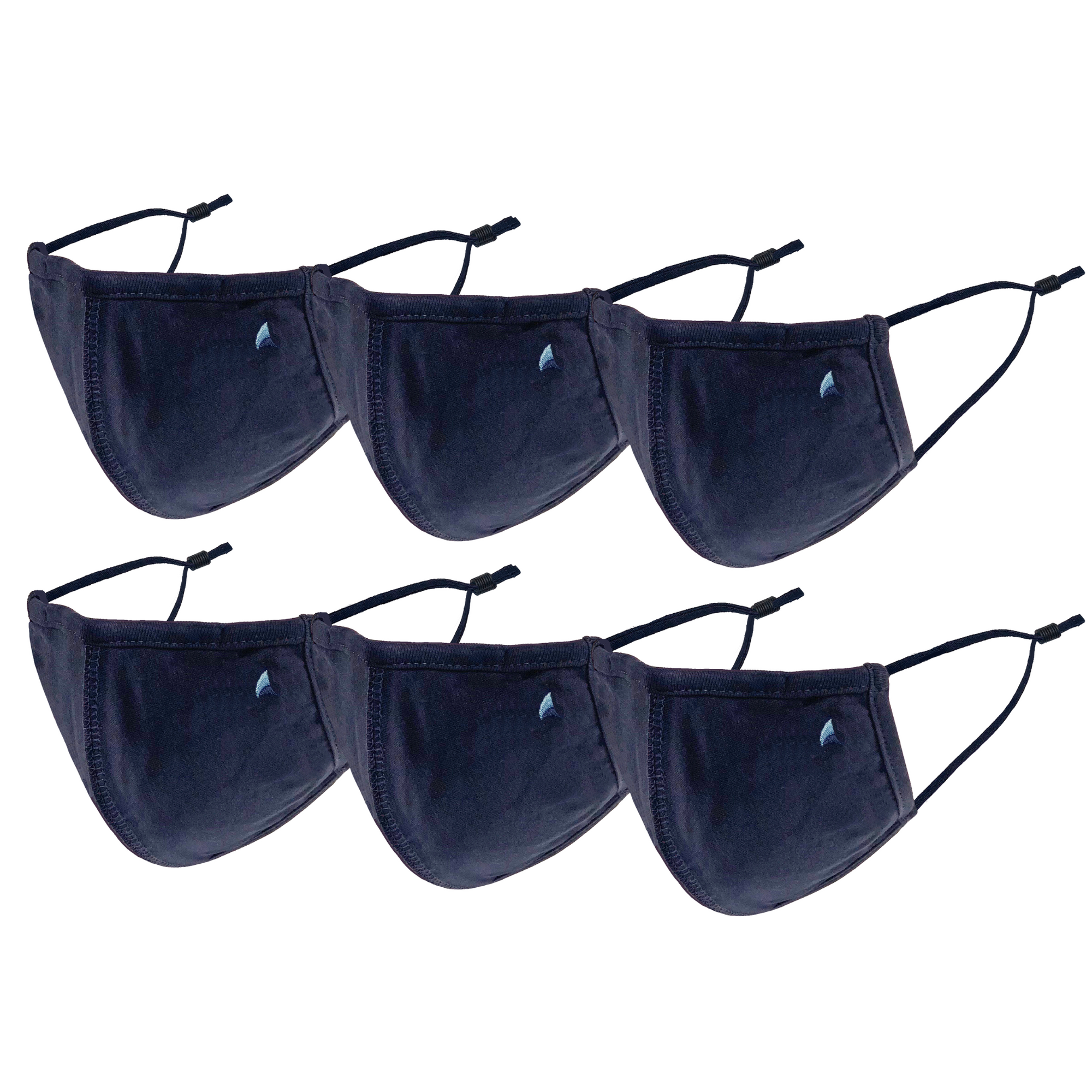 6 pack of Puretec Cool ™ Nanofiber Filter Mask in Navy