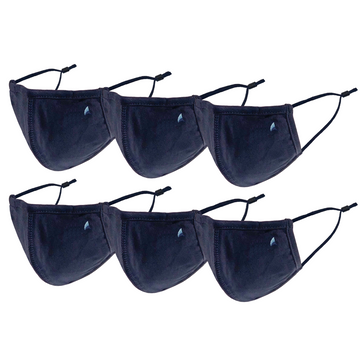 PURETEC COOL™ NANOFIBER FILTER  MASK (NAVY 6-PACK)