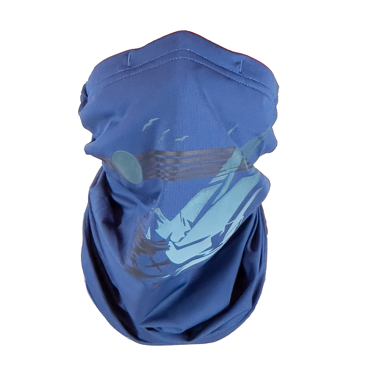 Puretec cool® Antimicrobial Neck Gaiter with Nanofiber Filter (Blue Quartz-Sails)