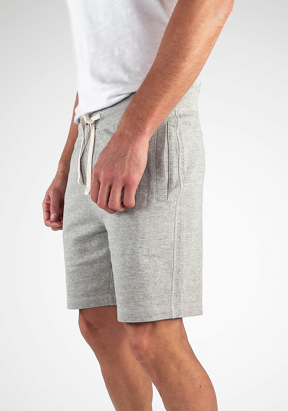 Heather French Terry Short in Medium Grey