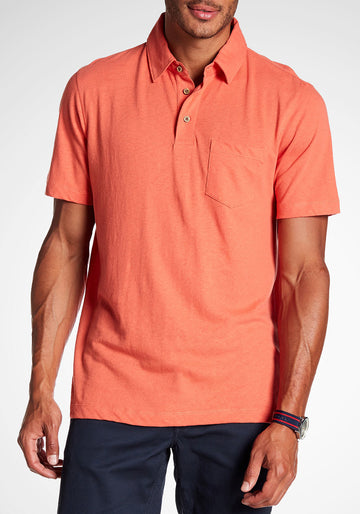 Airotec Stretch Slub Jersey Polo (Persimmon)