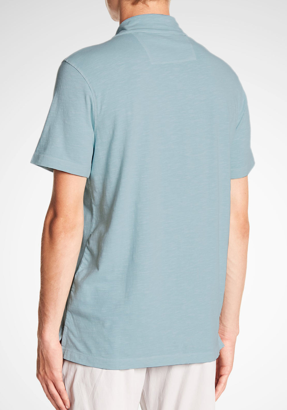 Back View Airotec Stretch Slub Jersey Polo in Sterling Blue