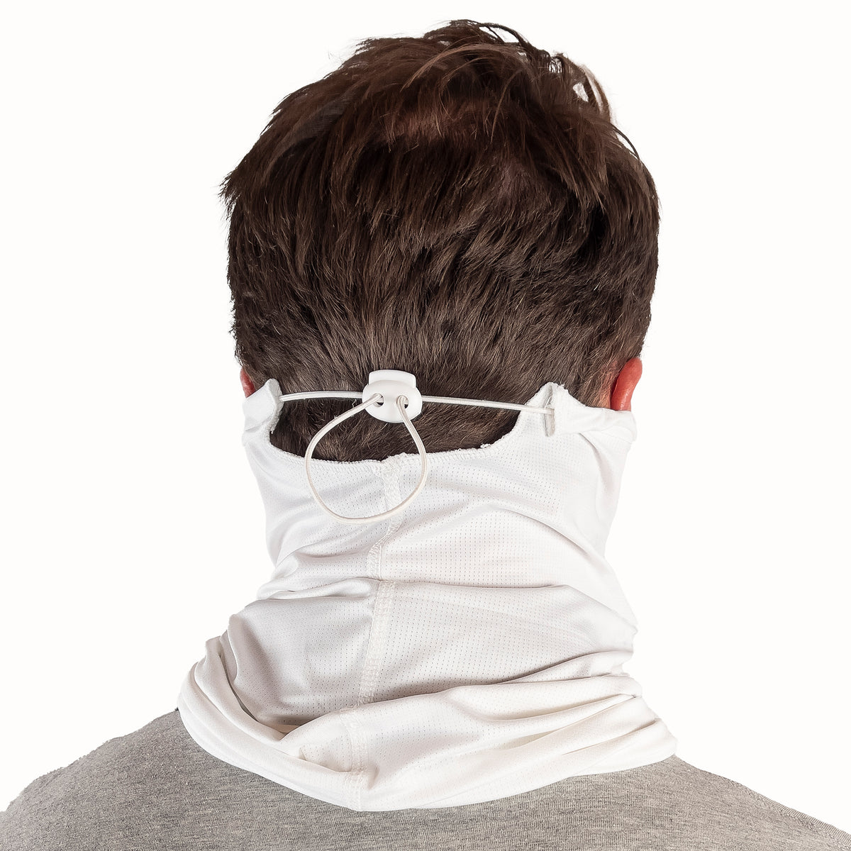 Puretec cool® Antimicrobial Neck Gaiter with Nanofiber Filter in White/Buoy