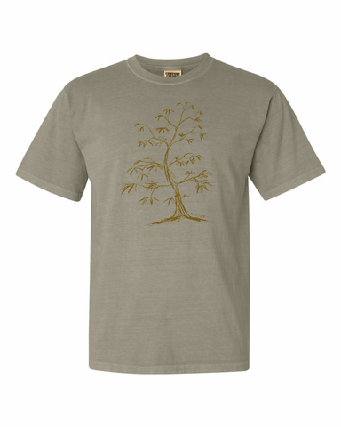 Men's Vibe with Nature Tree Tee - Sandstone