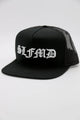 SLFMD Old English Trucker Snapback Hat - Black