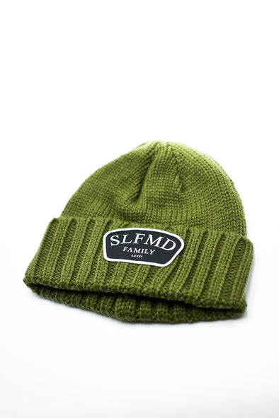 SLFMD Stamped Logo Beanie - Olive Green