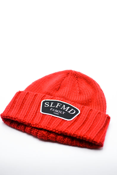 SLFMD Stamped Logo Beanie - Red