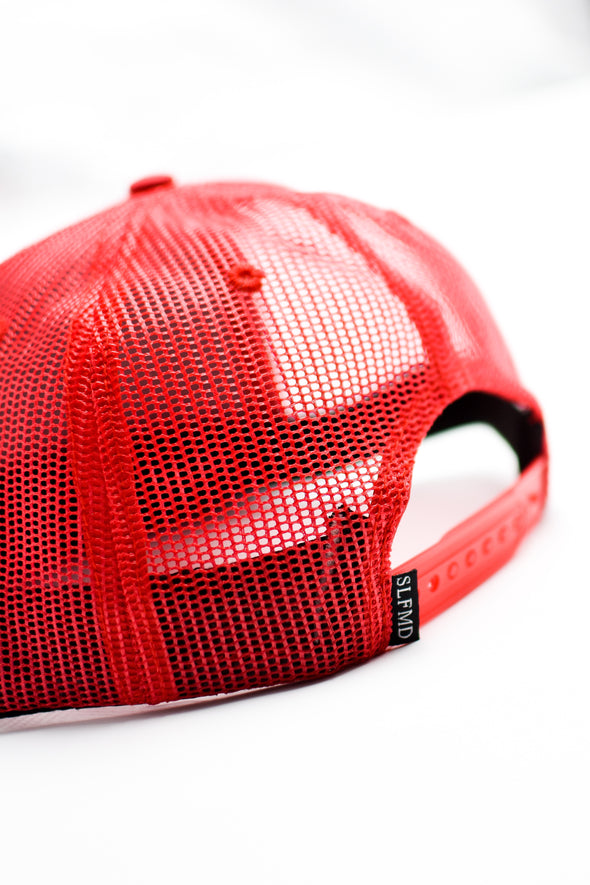 SLFMD Stamped Logo Trucker Snapback - Red