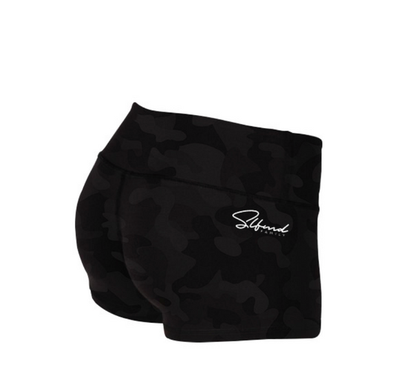 Black Camo Legging Booty Shorts