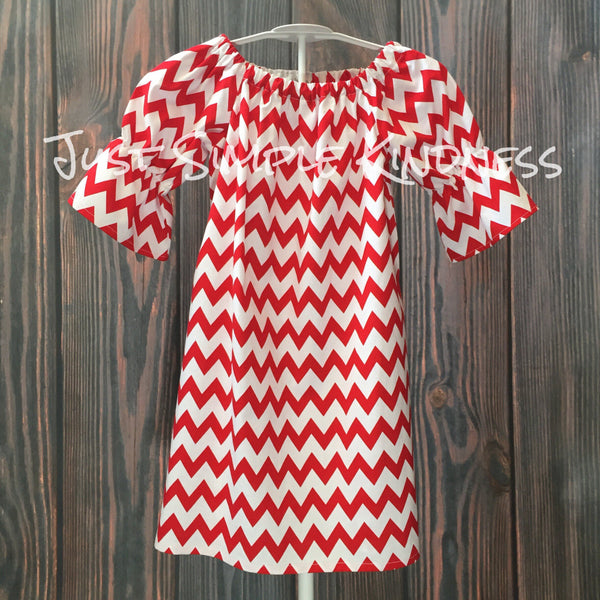 Red Chevron Dress