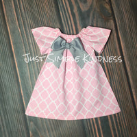 Light Pink Quatrefoil Dress