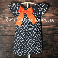Navy & Orange Dress