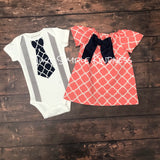 Baby Boy & Baby Girl Twin Outfit