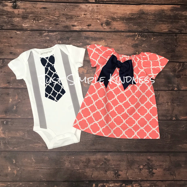 6521798347aa Baby Boy & Baby Girl Twin Outfit