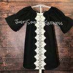 Ready to Ship - 2T - Black with Lace Dress