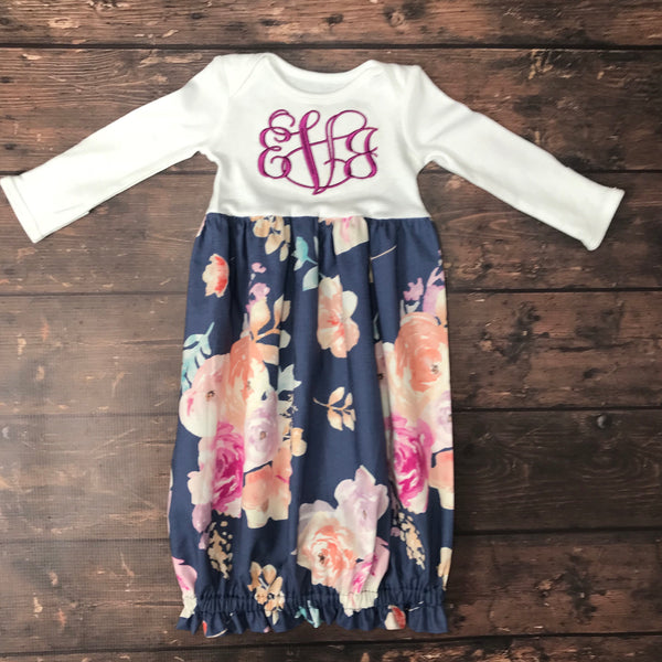 308a00f35 Girls Personalized Layette Gown
