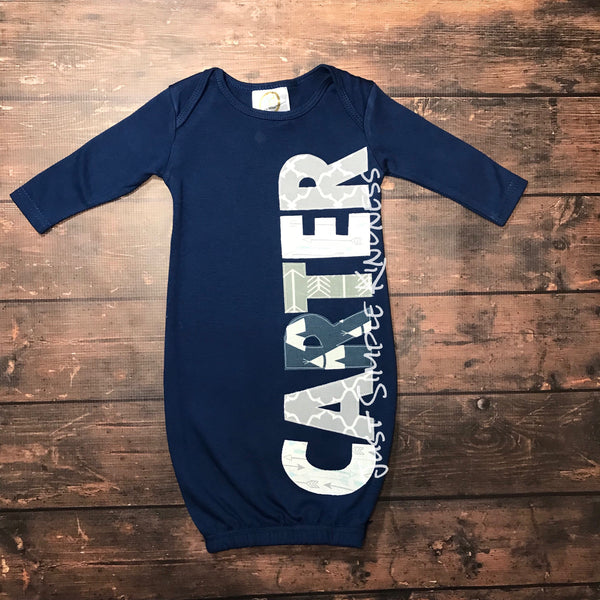Boys Personalized Layette Gown