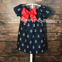 Mommy & Me Dresses Anchors Away!