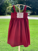 Ready to Ship - Cranberry Lace Hattie - 3T