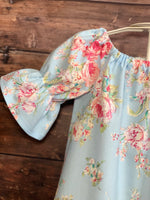 Light Blue Floral Dress