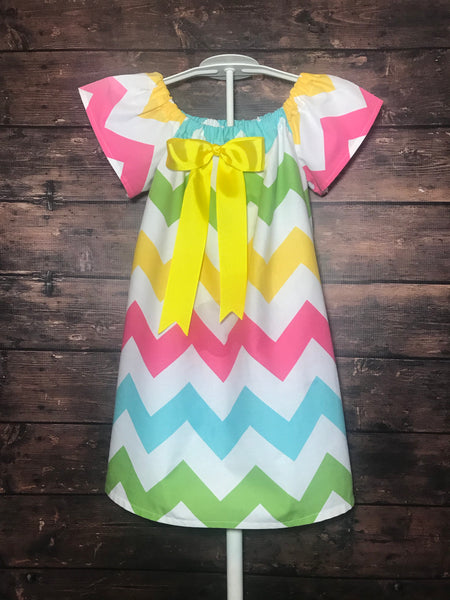 Ready to Ship - 4T - Pastel Chevron