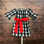 Black/White Buffalo Plaid Dress