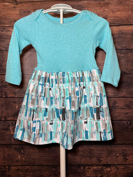 Ready to Ship - Teal Long Sleeve Dress - 18 Months