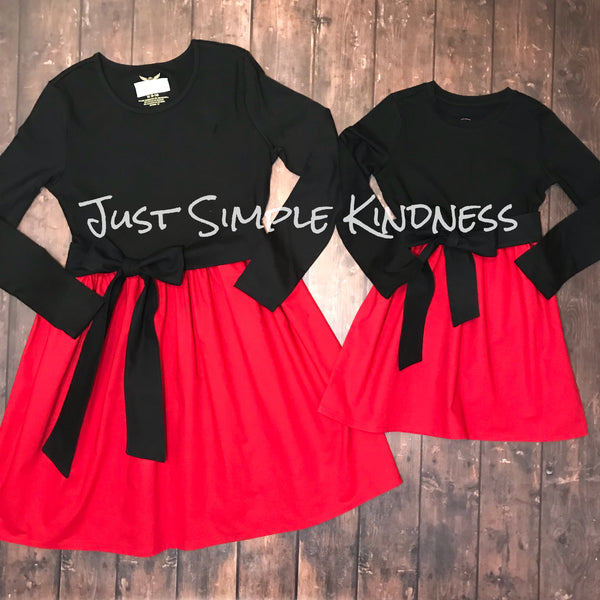 Ready To Ship - Red & Black  - Girls Small (6)