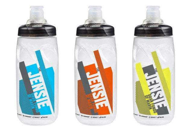Jensie Gran Fondo Race Stripe Water Bottle (21 oz.)
