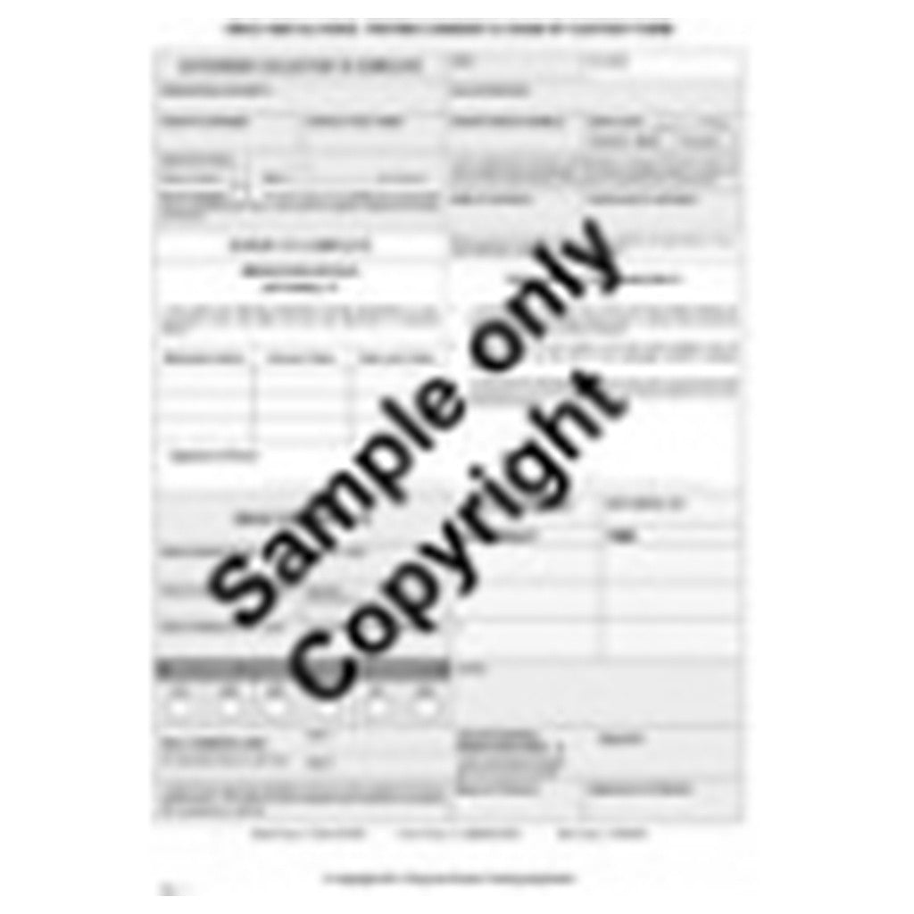 Chain of Custody Consent Pad (50 forms) – Drug & Alcohol Testing ...