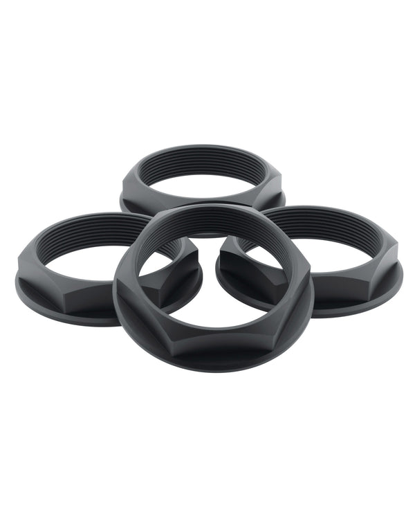 Super Touring Hex Nut Set _ Anodized Black