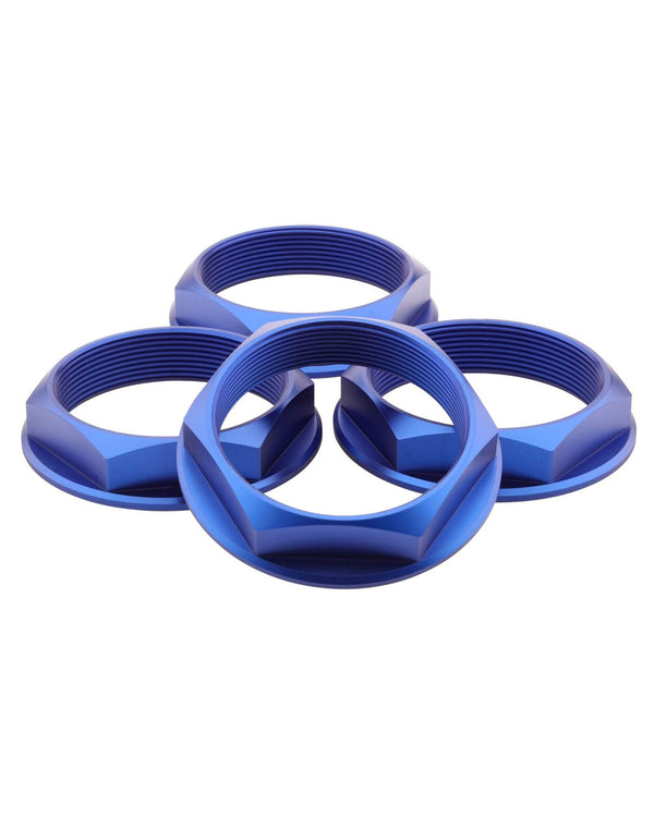 Super Touring Hex Nut Set _ Anodized Blue