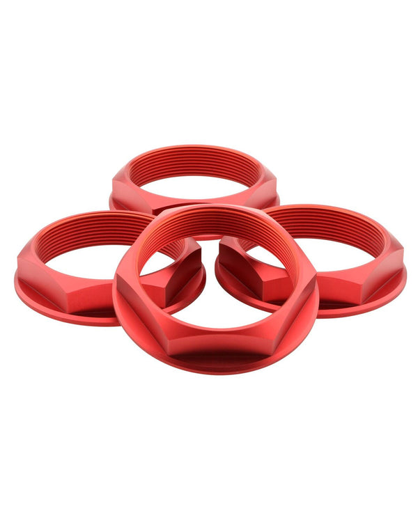 Super Touring Hex Nut Set _ Anodized Red