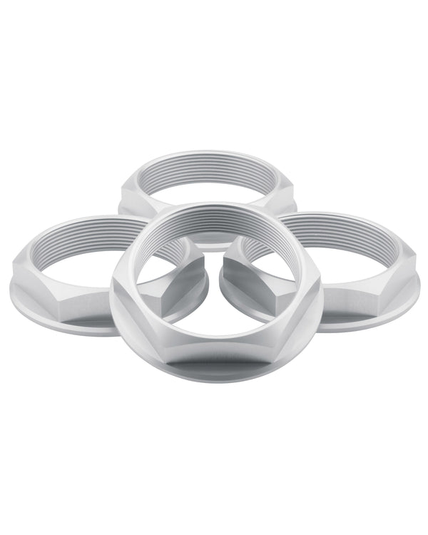 Super Touring Hex Nut Set _ Anodized Silver