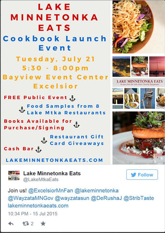 Lake Minnetonka Eats Cookbook Launch Event