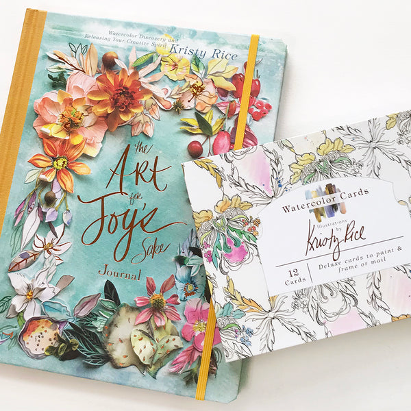 Art for Joy's Sake Journal & Watercolor Notecard Bundle