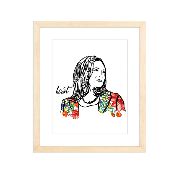 Pillars Collection - Kamala Harris Watercolor Art Print