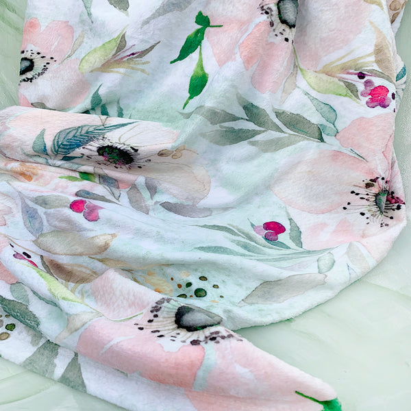 White Anemone Throw Blanket