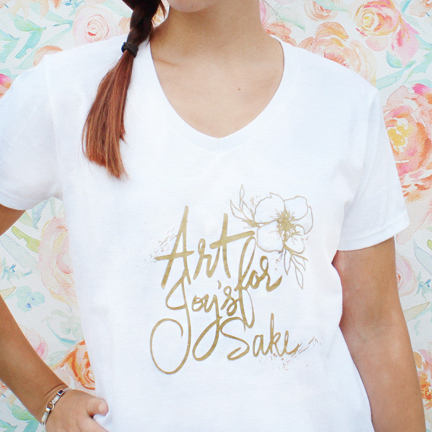 Art for Joy's Sake t-shirt by Artist Kristy Rice
