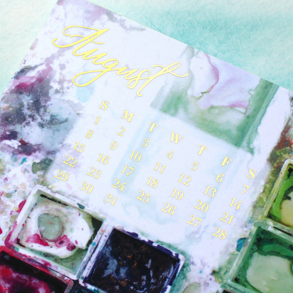 Watercolor Palette 2021 Calendar