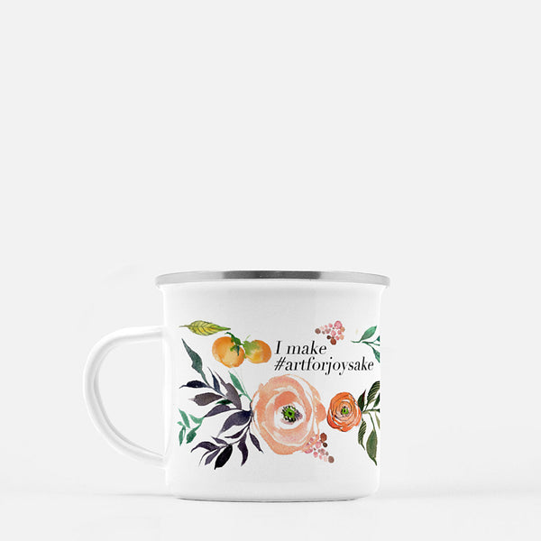 Watercolor Fruits and Blooms Coffee Mug - I make #artforjoysake