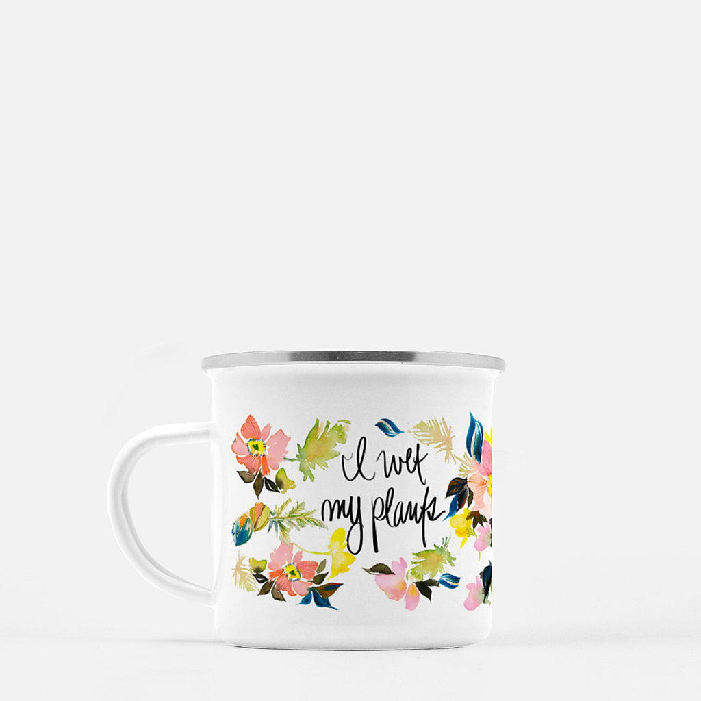 Watercolor Poppies Coffee Mug - I Wet My Plants