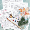 Flowers Watercoloring Pages Bundle