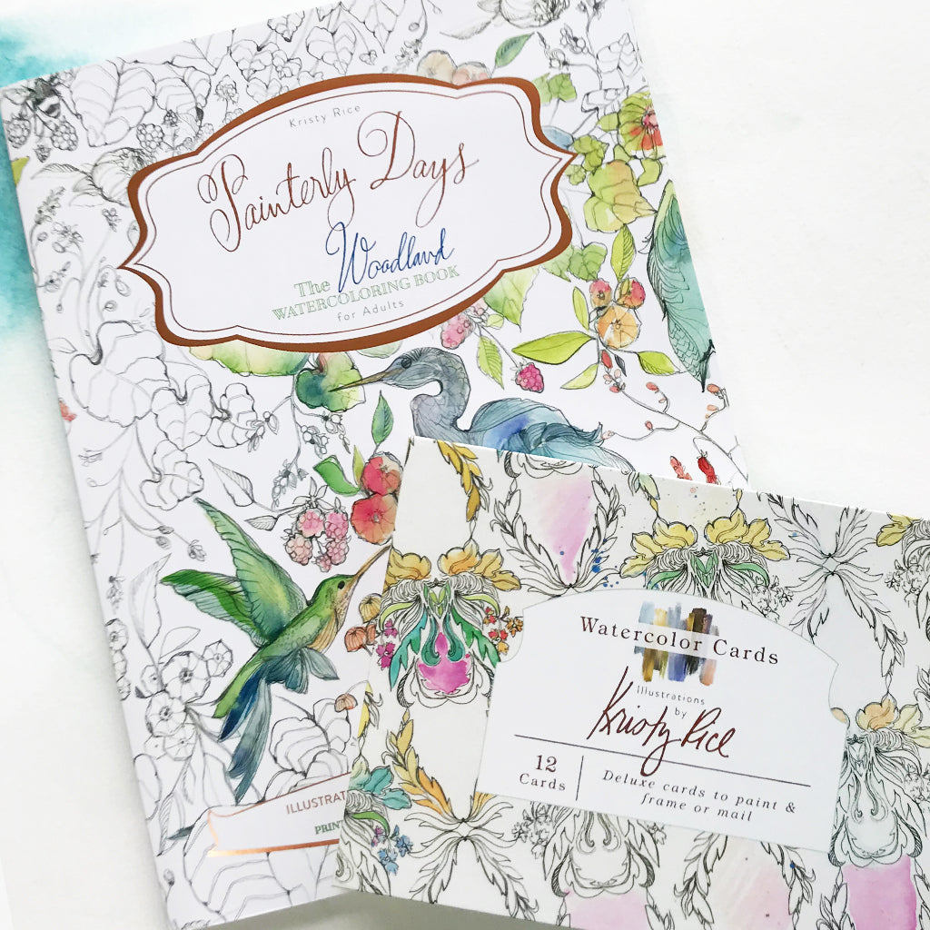 Painterly Days & Watercolor Notecard Bundle
